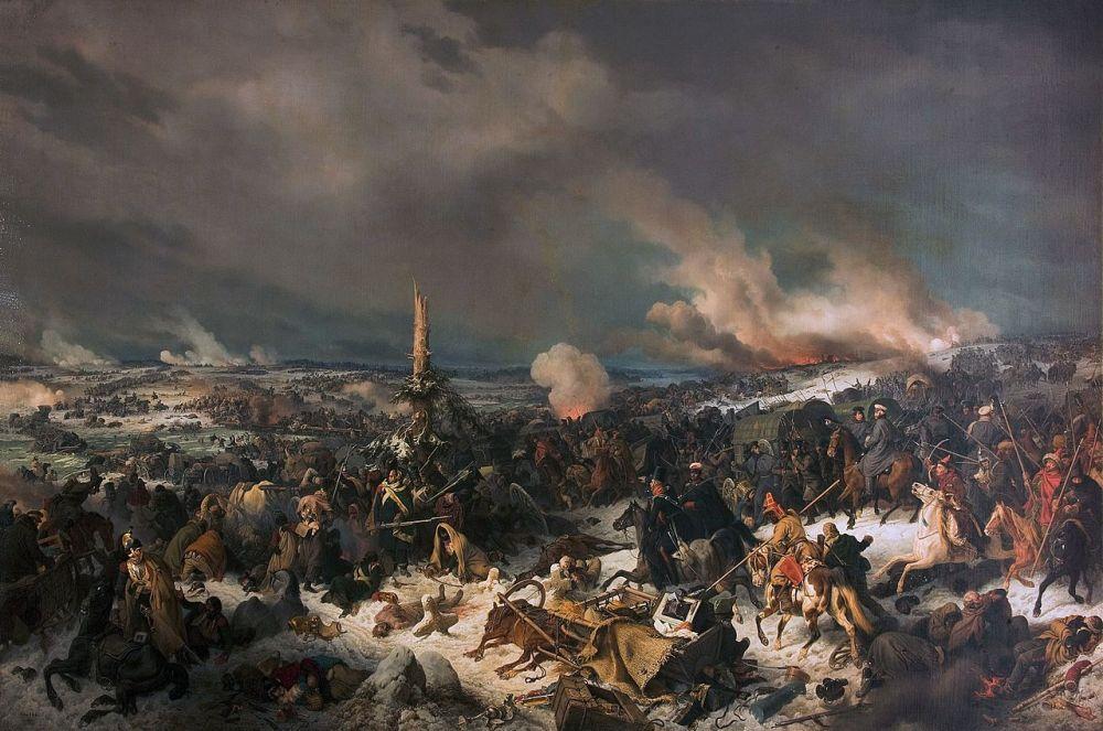 Переправа через Березину 17 (29) ноября 1812 г. Картина Петера фон Гесса