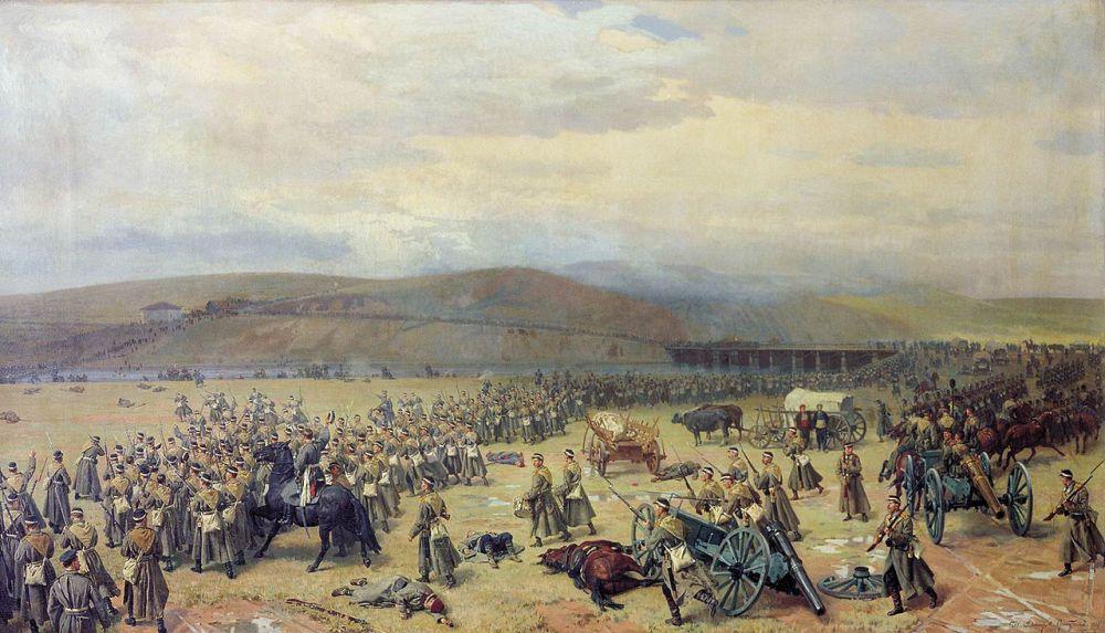 Последний бой под Плевной 28 ноября 1877 г. Картина Н.Д. Дмитриева-Оренбургского