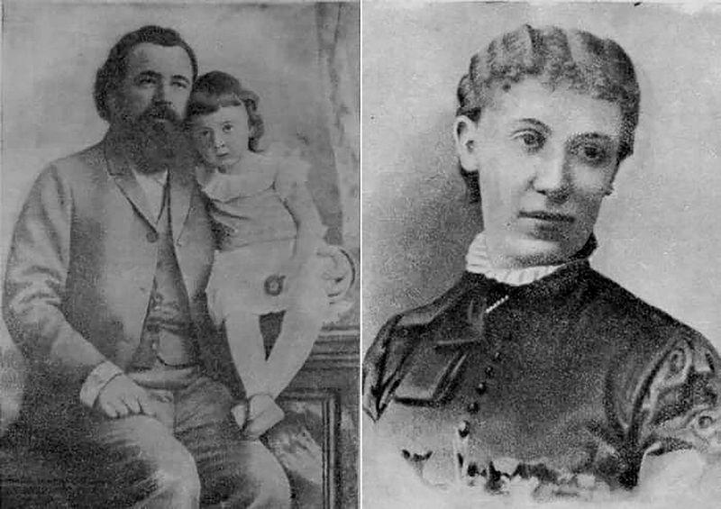 Склифосовский с младшей дочерью Тамарой. Справа – вторая жена хирурга Софья