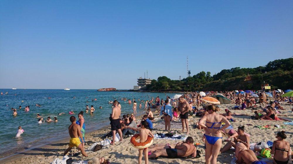 Пляжи заполнены