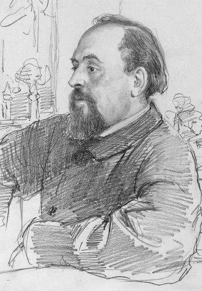 Портрет Саввы Мамонтова работы Ильи Репина. 1879 г.