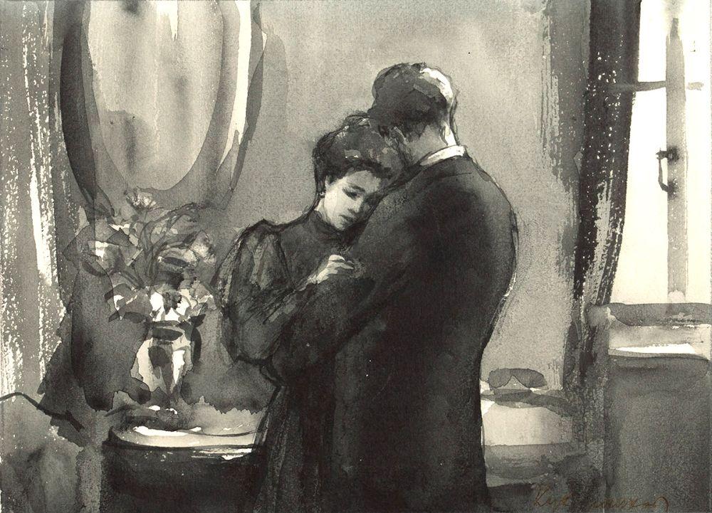 Кукрыниксы. Иллюстрация к рассказу А. Чехова «Дама с собачкой»