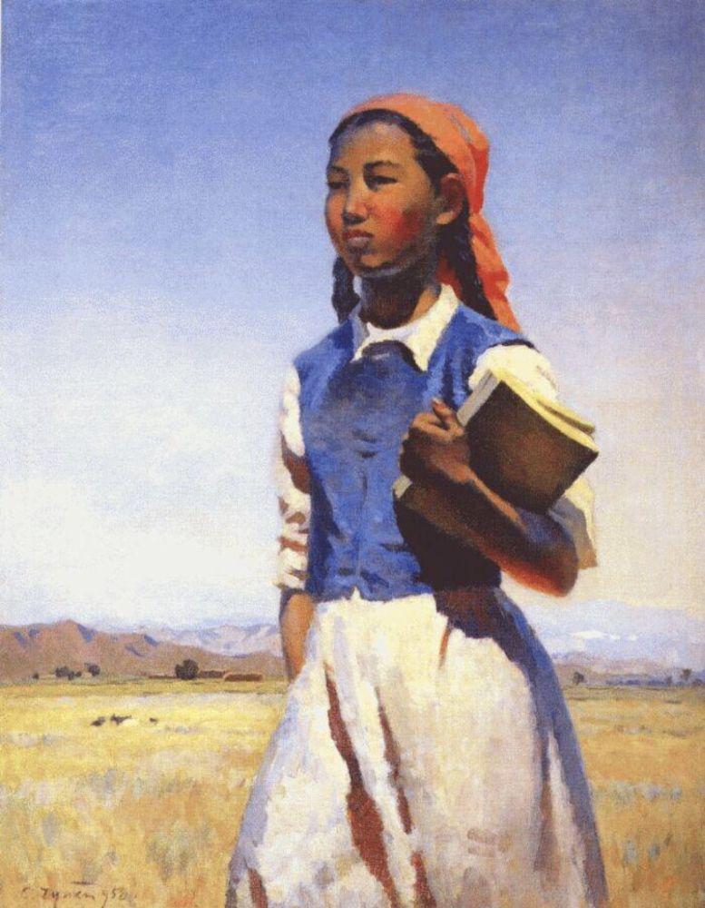 Дочь. С. Чуйков. «Дочь Советской Киргизии», 1947 г.