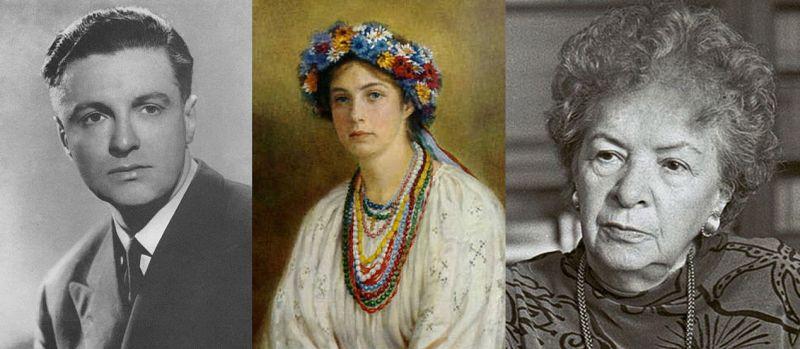 «Гетманыч» Данила Скоропадский, «гетманивны» Елизавета Кужим и Елена Отт (слева направо).