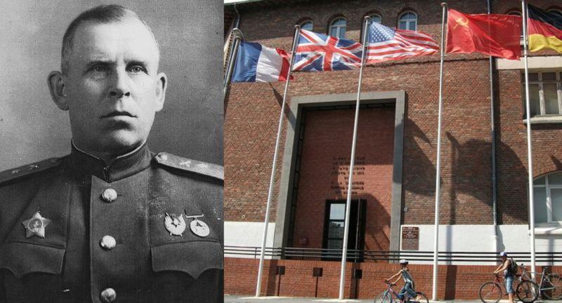 Генерал-майор И.А. Суслопаров и (справа) – здание лицея в Реймсе, где состоялось подписание «предварительного протокола» капитуляции