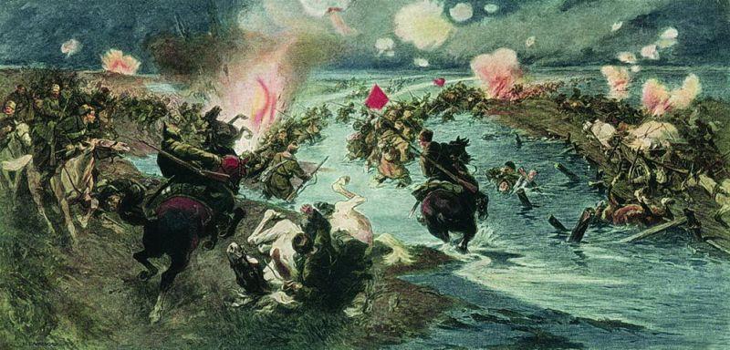 Форсирование войсками РККА озера Сиваш в 1920 году – первая из успешных наступательных операций, спланированная Алексеем Антоновым