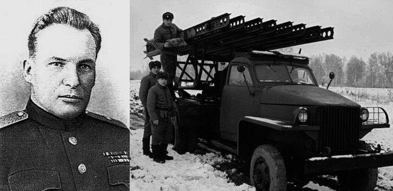 Нарком миномётного вооружения П. И. Паршин и «нормализованная» БМ-13 на базе «Студебекера».