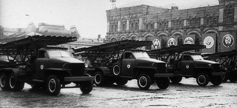 «Катюша» на Параде Победы на Красной площади Москвы 24 июня 1945 года. Кадр фотохроники.