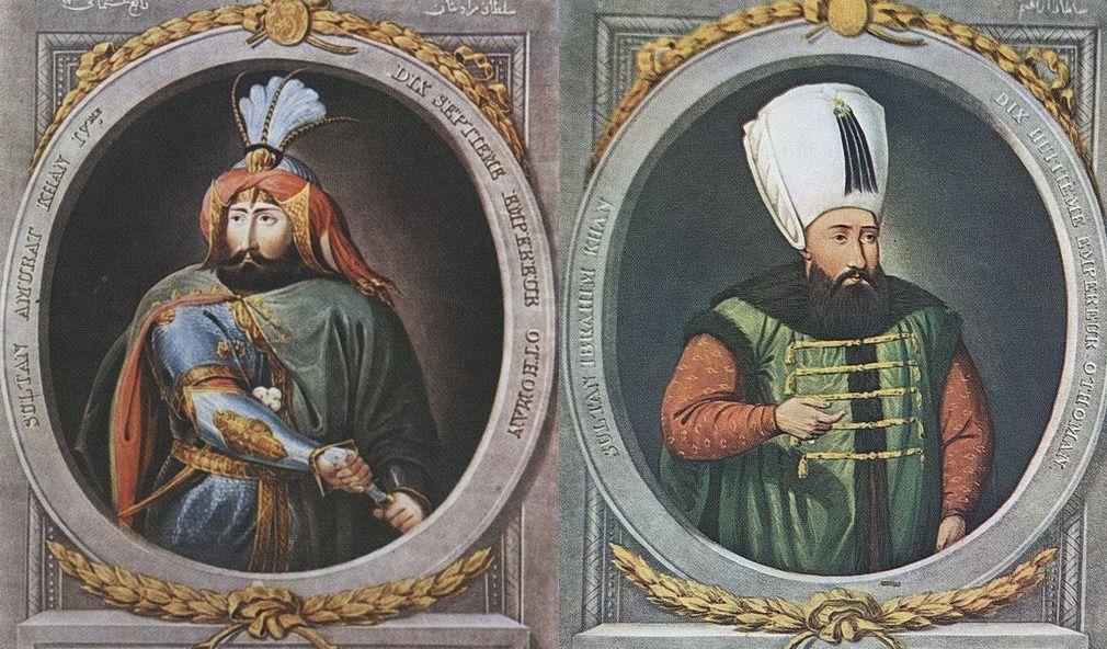 Султаны Османской империи Мурад IV и Ибрагим I, стерёгшие Черное море «как непорочную девицу» и всемерно укреплявшие крепость Азов