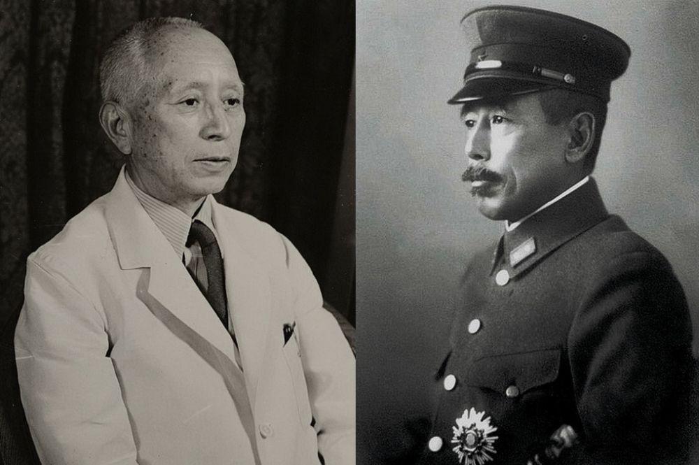 Начальник Генштаба Японской армии Ёсидзиро Умэдзу (слева) и последний командующий Квантунской армией Отодзо Ямада