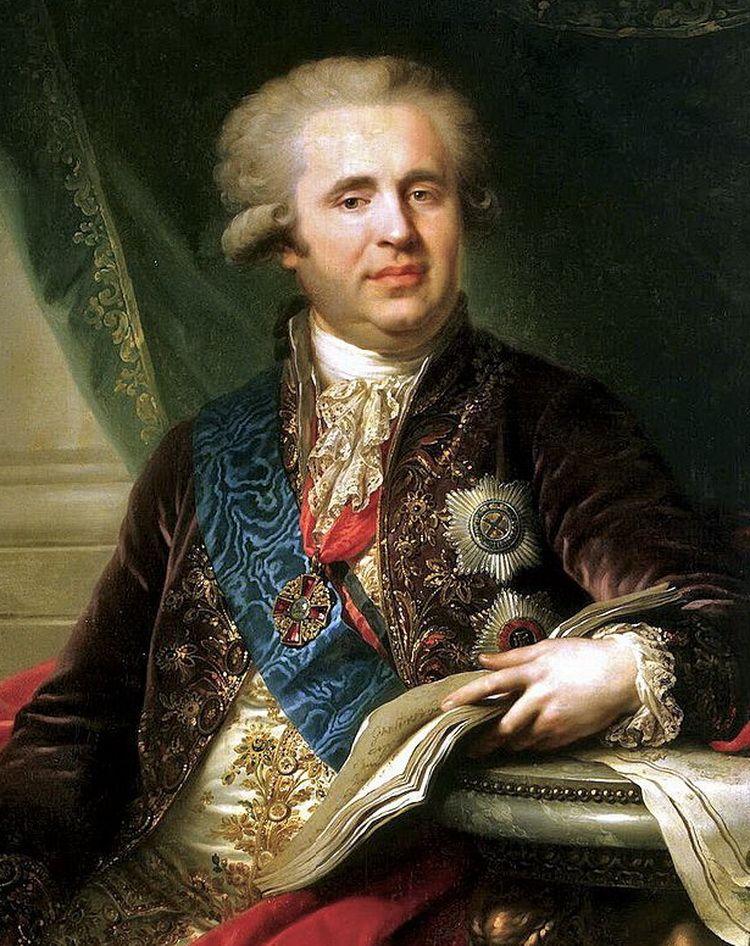 Граф (на момент написания портрета) А.А. Безбородко. Художник И. Лампи. 1792 год. Фрагмент картины