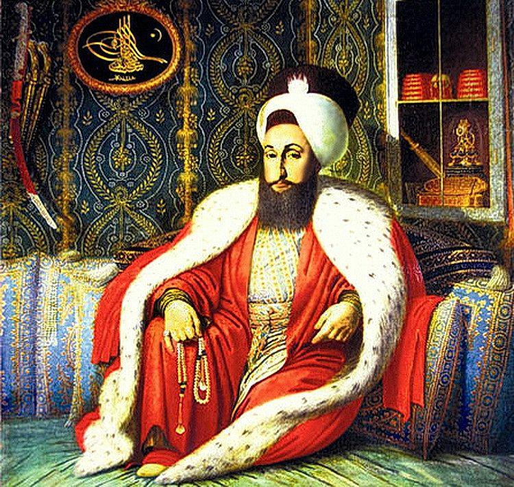Султан Селим III, сторонник добрососедских отношений с Россией, во время аудиенции. Художник К. Капидагли
