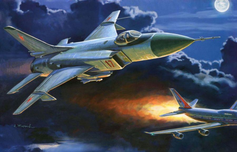 «Су-15» сбивает корейский «Боинг». Художник А. Жирнов