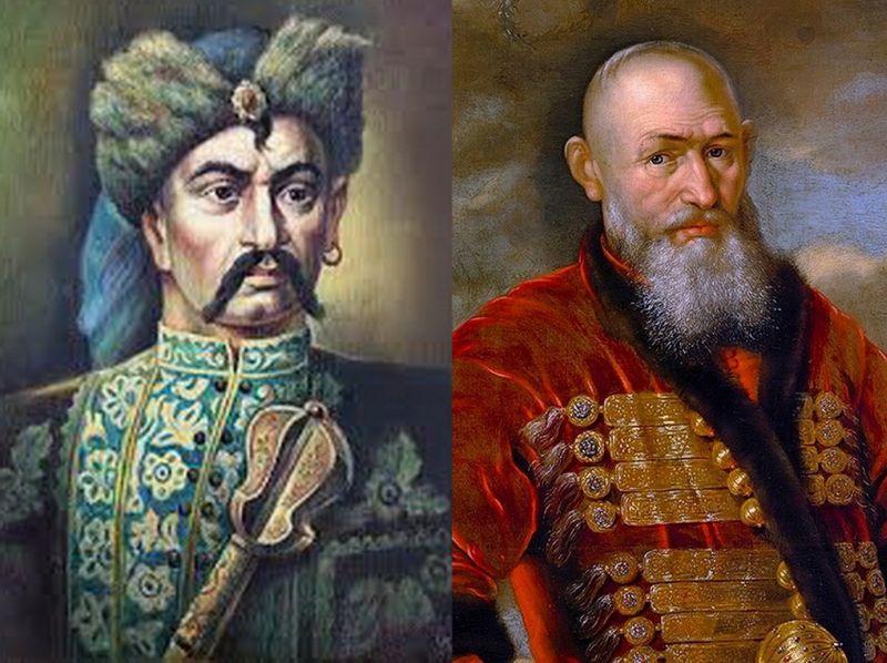 Казацкий полковник Иван Богун (слева) и его оппонент, каратель Стефан Чарнецкий