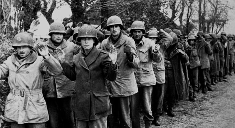 Американцы, взятые в плен немцами во время Арденнского наступления