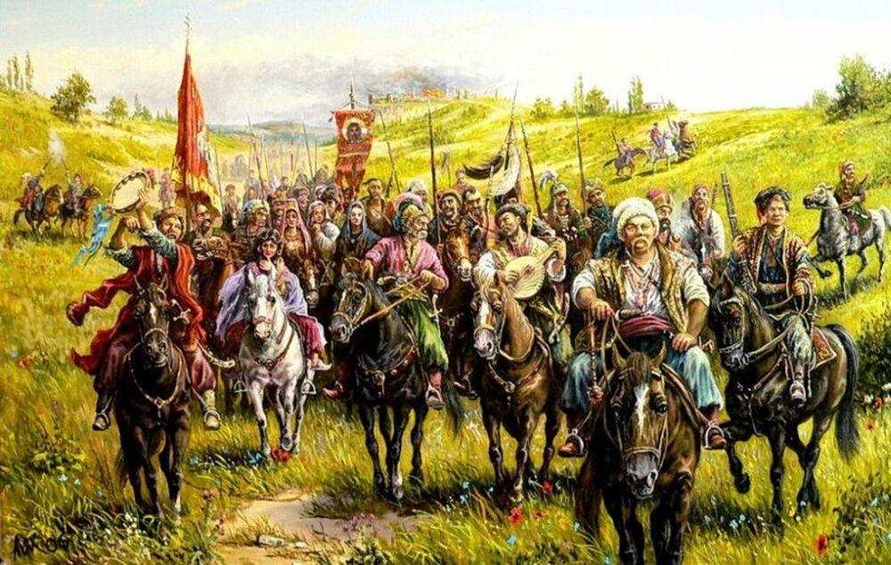 Казацкое войско в походе