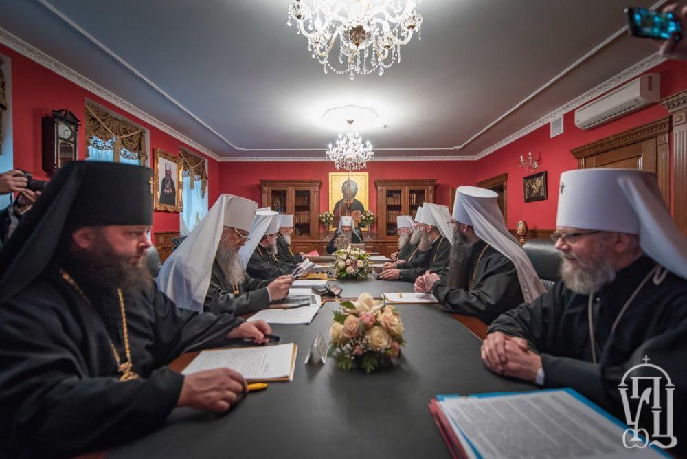 Заседание Священного Синода УПЦ МП