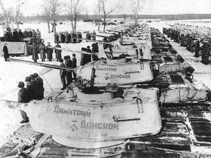 Передача войскам танковой колонны им. Димитрия Донского