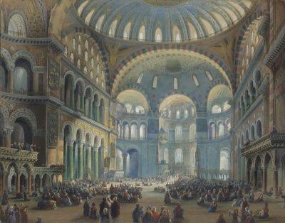 «Константинополь, собор Святой Софии», К. Боссоли