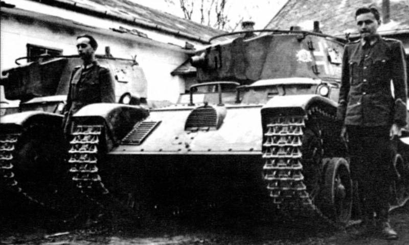 Венгерские танкисты на территории Советского Союза