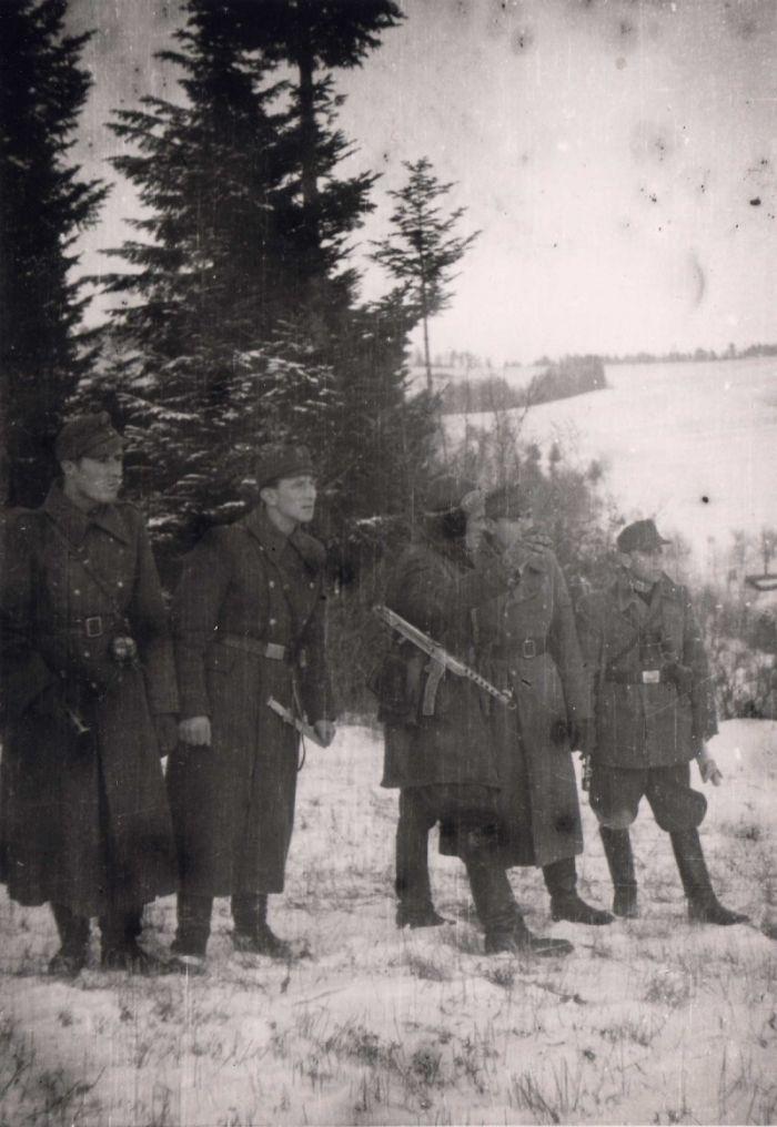 Бойовка Перемышльского куреня перед атакой на г. Бирча. Январь 1946 г.