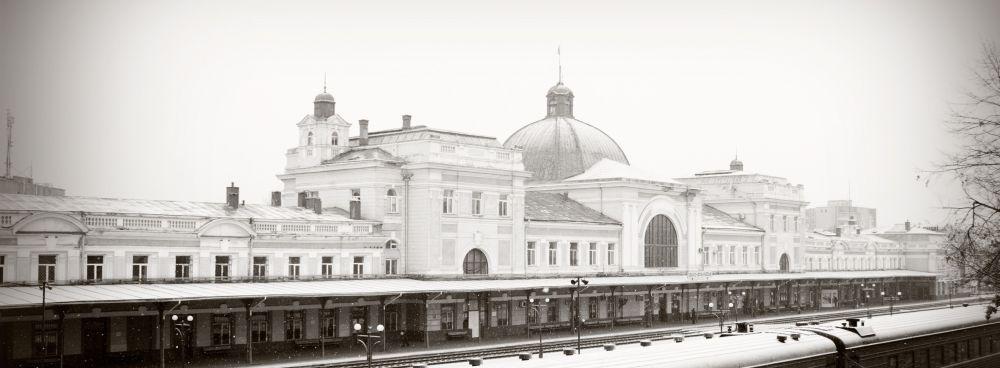Реконструированное здание вокзала. Современный вид