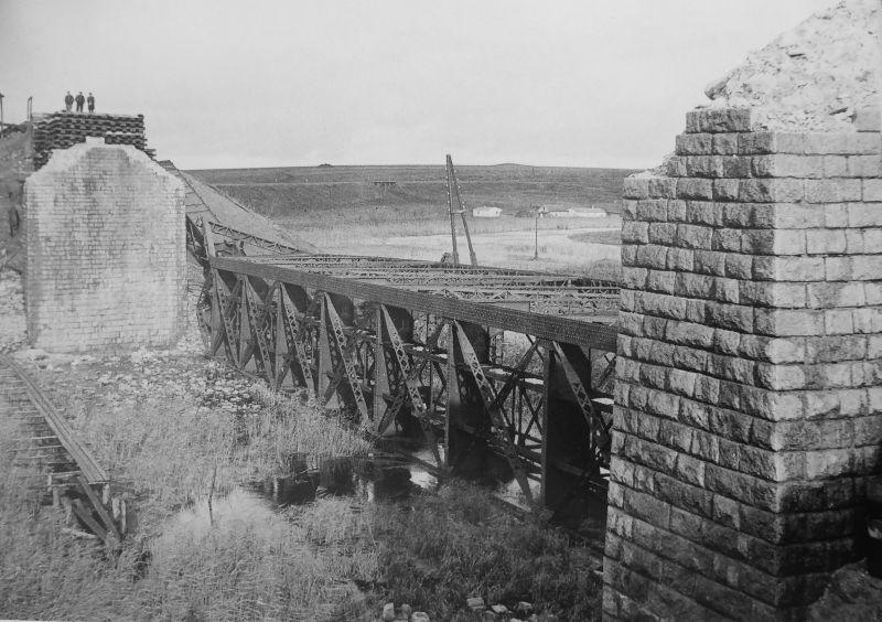 Один из разрушенных мостов на Станиславщине