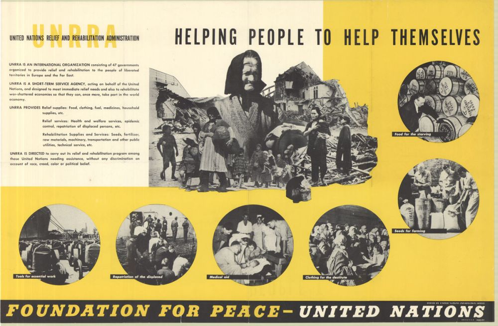 Информационный плакат UNRRA