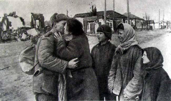 Первый день освобождения города
