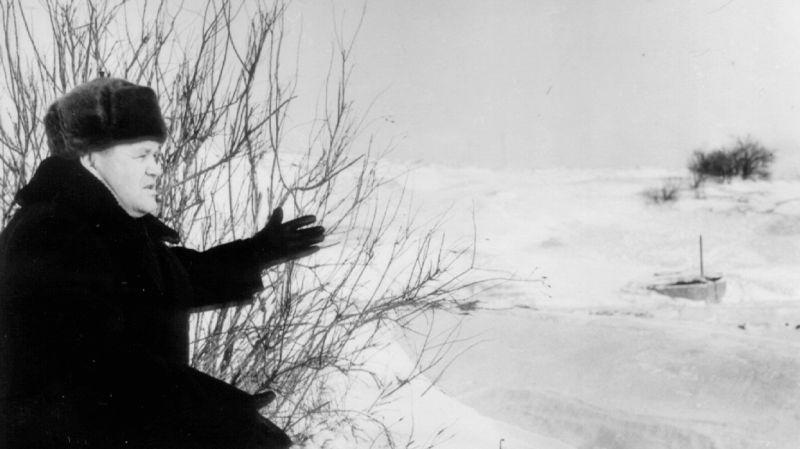 Василий Зайцев на Мамаевом кургане, 1960 год