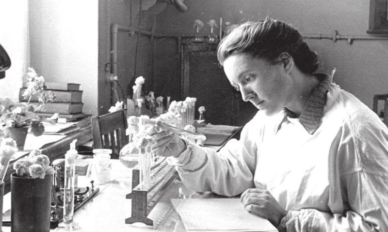 З.В. Ермольева в лаборатории