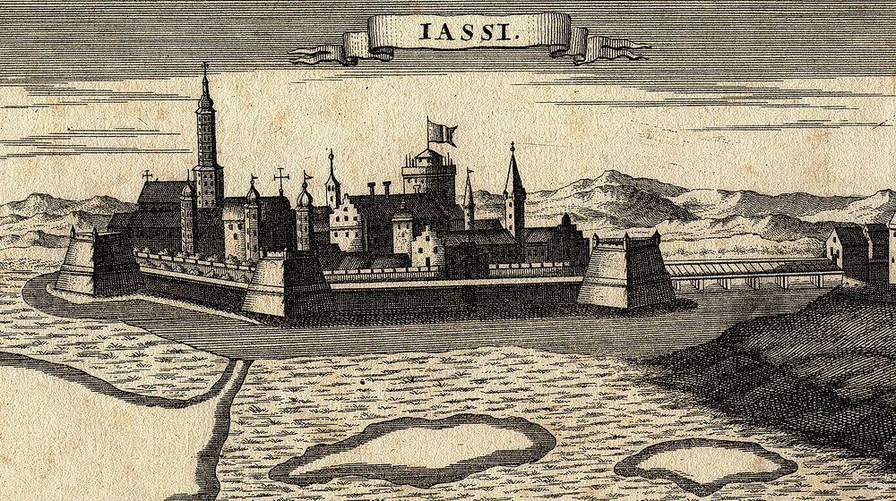 «Яссы». Гравюра немецкого картографа Габриэля Боденера, 1686 г.