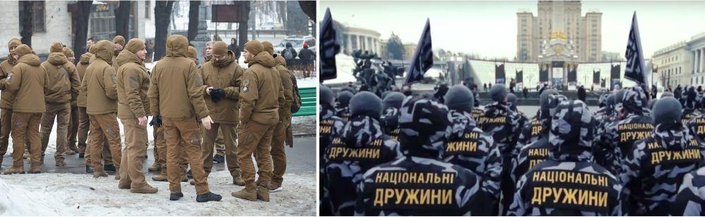 Уже существующие частные армии «Муниципальная варта» и «Национальные дружины»