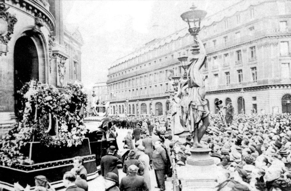 Похороны Фёдора Шаляпина в Париже. 1938 г.