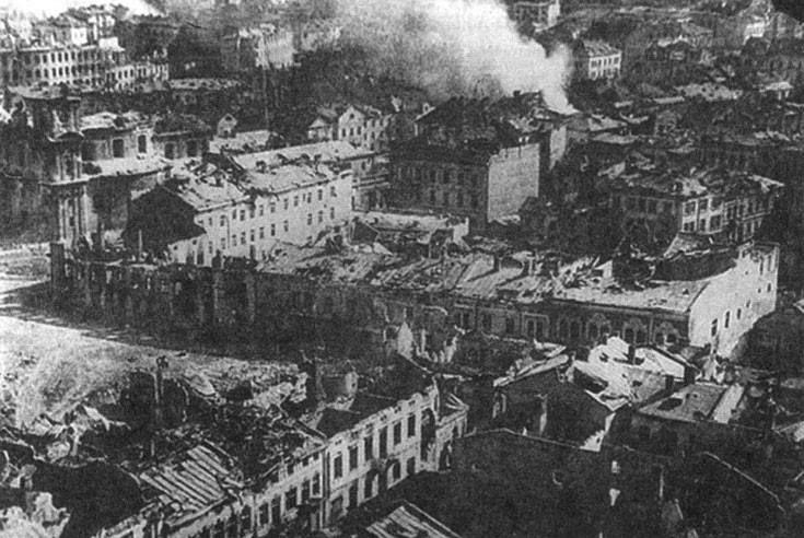Панорама Тернополя в 1944 году