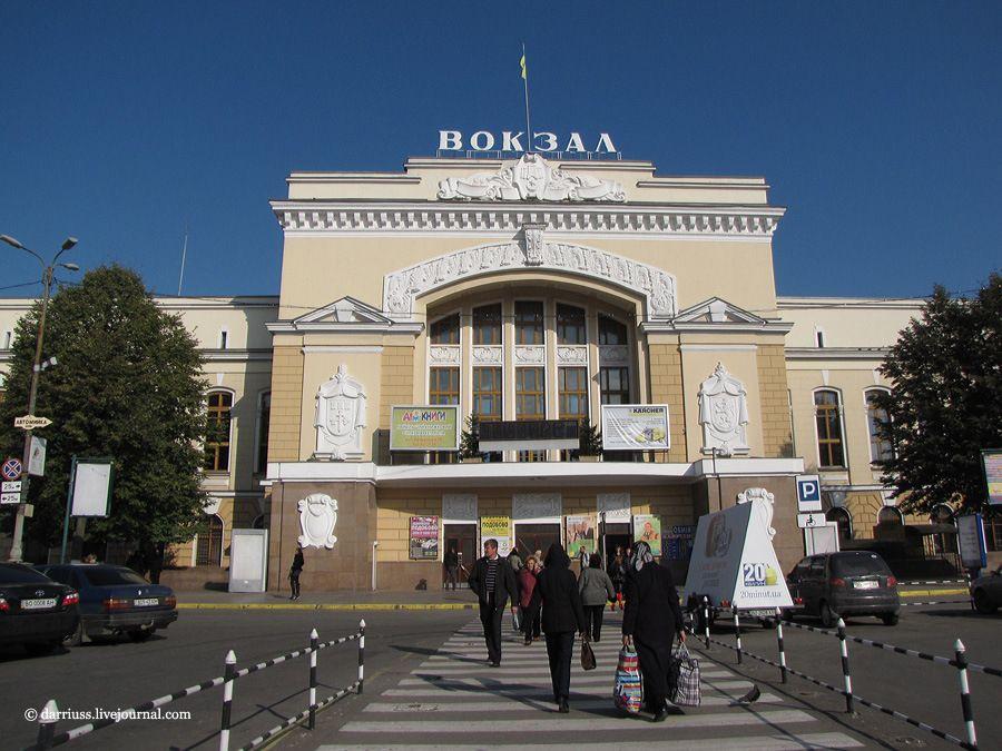 Здание отстроенного вокзала в Тернополе
