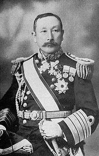 Командующий японской эскадрой контр-адмирал Сотокити Уриу
