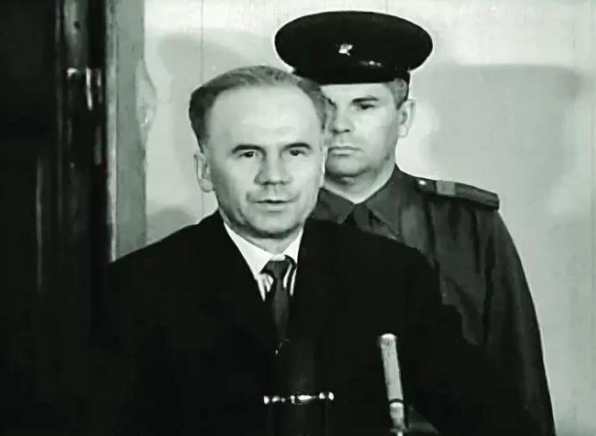 Олег Пеньковский в зале суда