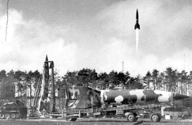 Испытание ракеты Фау-2