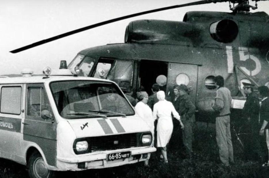 Эвакуация пострадавших в катастрофе