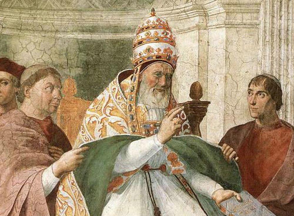 Уголино деи Конти ди Сеньи, папа римский Григорий IX: основатель инквизиции и поборник крестовых походов на Русь. Его барельеф украшает в настоящее время Палату представителей США