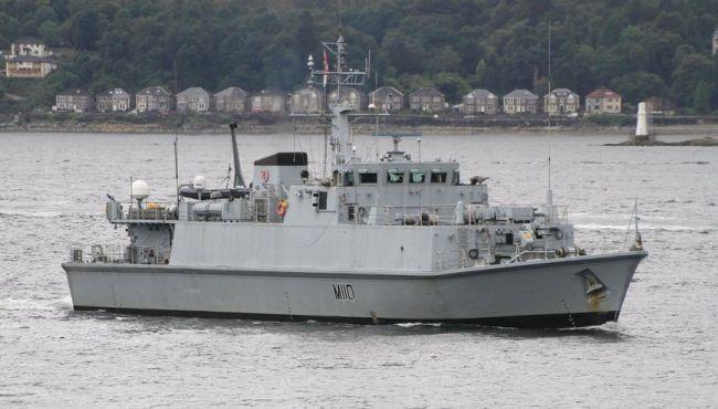 Списанный ветеран британского флота HMS М 110 Ramsey