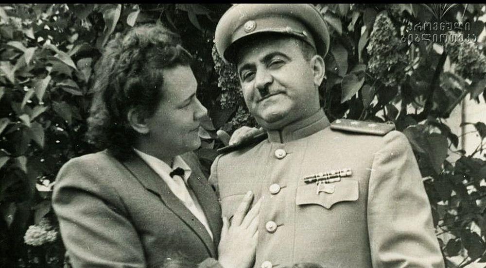 Чета Мжаванадзе, правившая Грузией с 1953 по 1972 год. Фрагмент снимка. Фотоархив Парламентской библиотеки Грузии