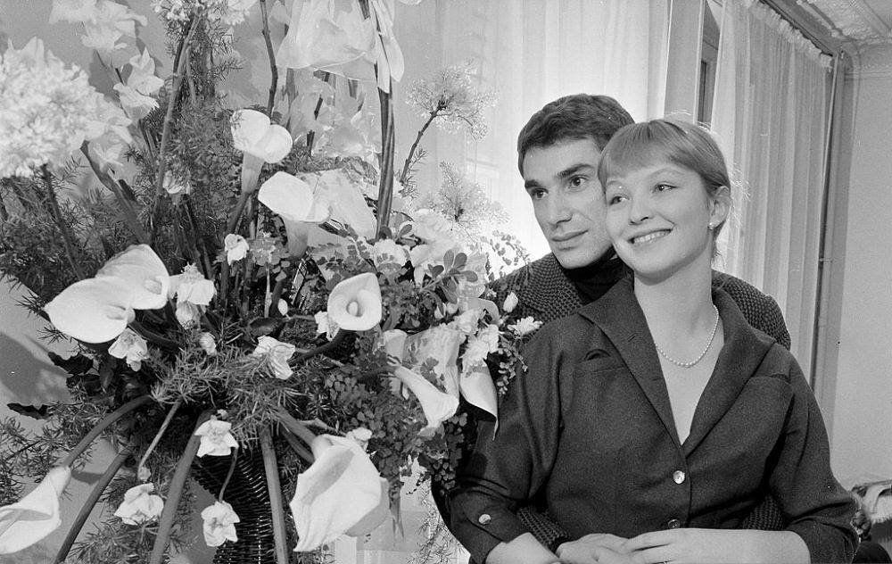 Марина Влади и Робер Оссейн