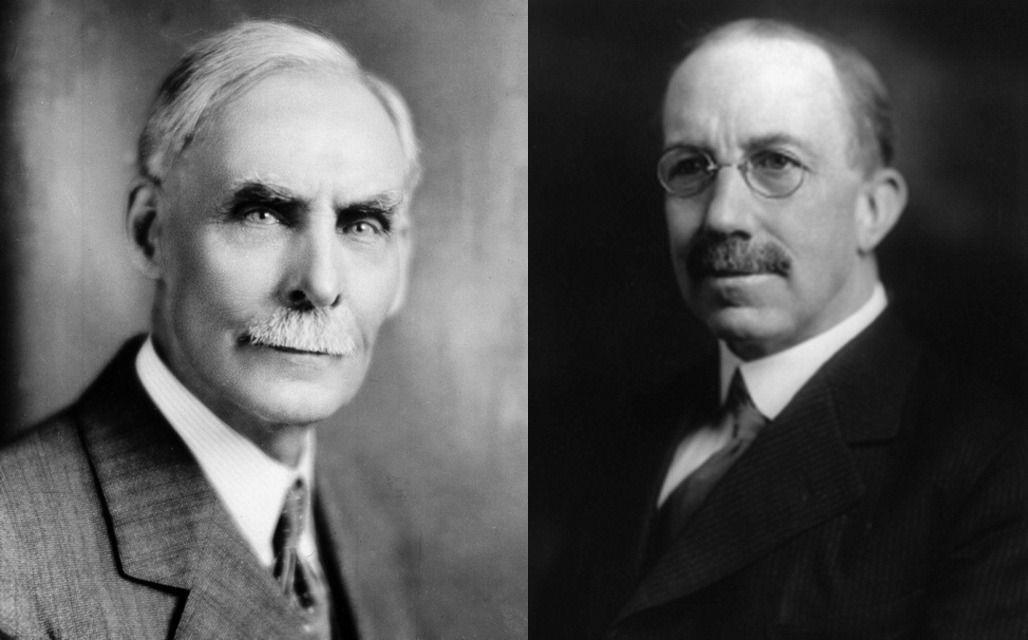 Инициаторы принятия «сухого закона» в США Эндрю Волстед (слева) и Уэйн Уиллер.
