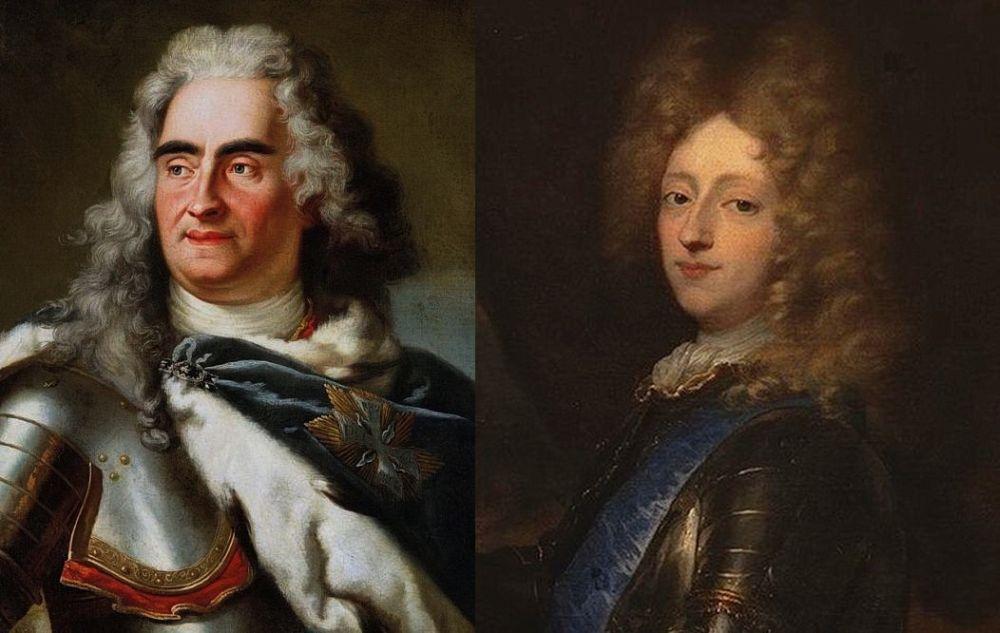Август II (слева) и Фредерик IV – инициаторы создания «Северного союза»