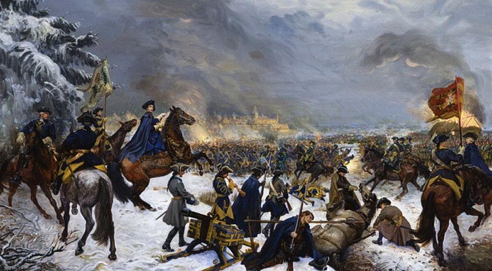 Карл XII под Нарвой в 1700 году. Разгром русской армии