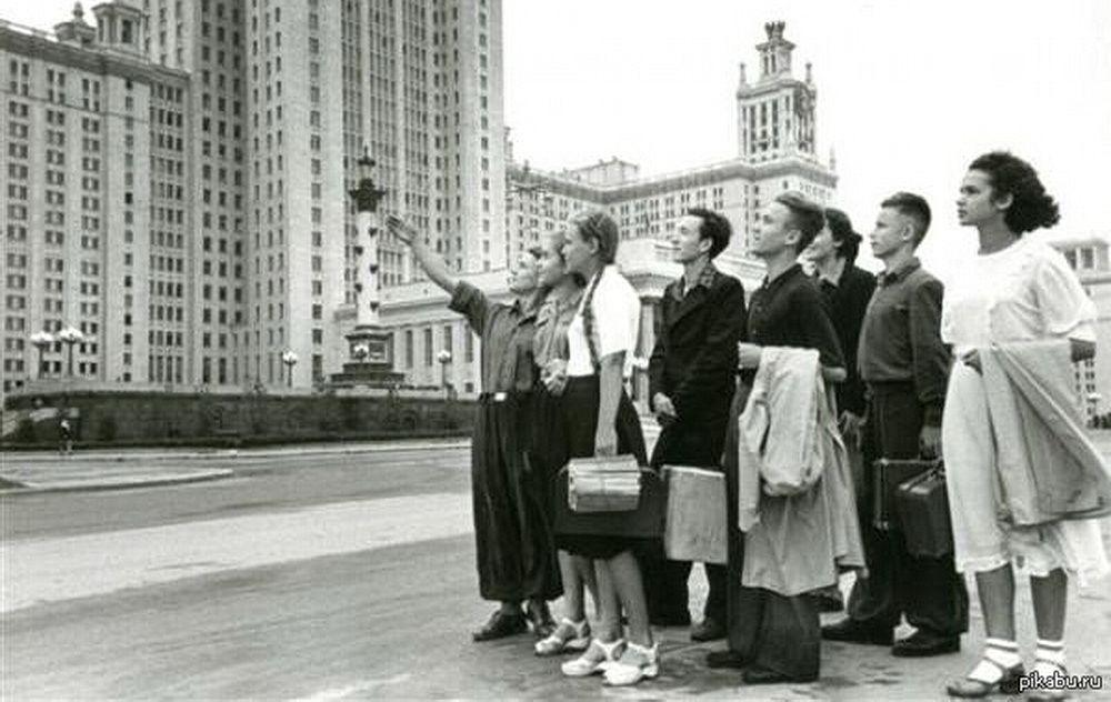 Первые студенты МГУ. 1953 год