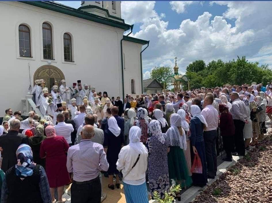 Освящение нового храма в селе Гнездычно возглавил митрополит Сергий
